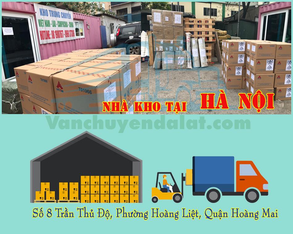 Nhà kho chuyển hàng hóa đi Đà Lạt tại Hà Nội