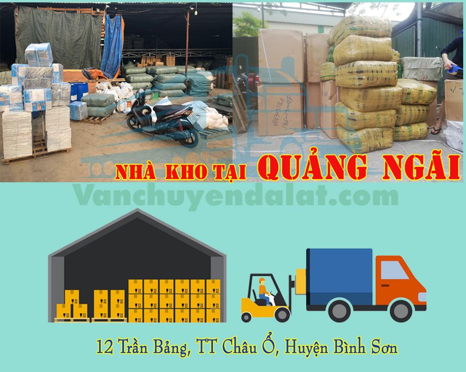 Nhà kho, nhà xe chuyển hàng đi Đà Lạt tại Quảng Ngãi